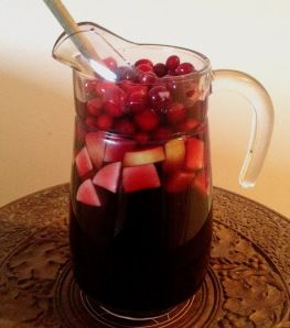 Spiced Cranberry Sangria Recipe - Perfect for holiday entertaining