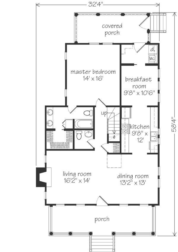 Coosaw River Cottage Plan Sl 671 Floorplans Pinterest