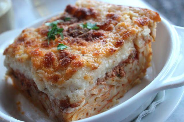 Greek pasta lasagna | yum | Pinterest