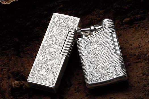 ... シリーズ /SAROME PSD12 PSD9 hand engraved silver925 lighters