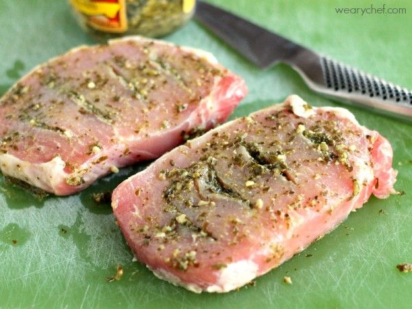 Pesto Stuffed Oven Baked Pork Chops | Recipe