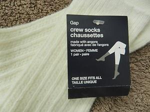GAP Designer Angora Socks Cream/off white One size BNWT   eBay