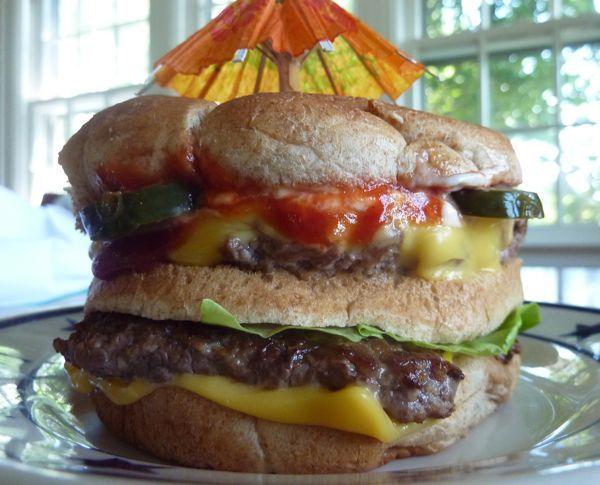 """big mac"""" using ground turkey, organic sauce, and just all around ..."""