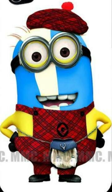 Scottish Minion--this is funny, hehehehe