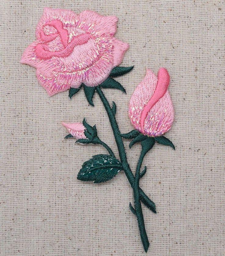 Розы вышивка машинная 77