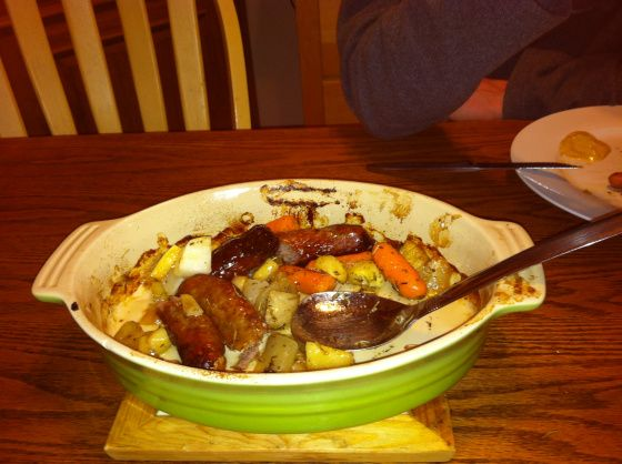 Roasted root vegetables and sausage | ***COOKING*** | Pinterest