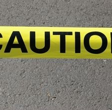 Make caution tape with your own warning stenciled on it. Caution: Zombies anyone?