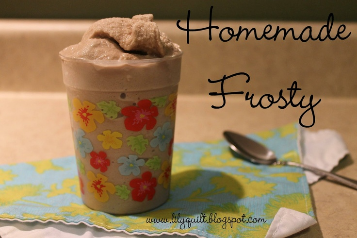 Lilyquilt: Homemade Chocolate Frosty | Recipes | Pinterest