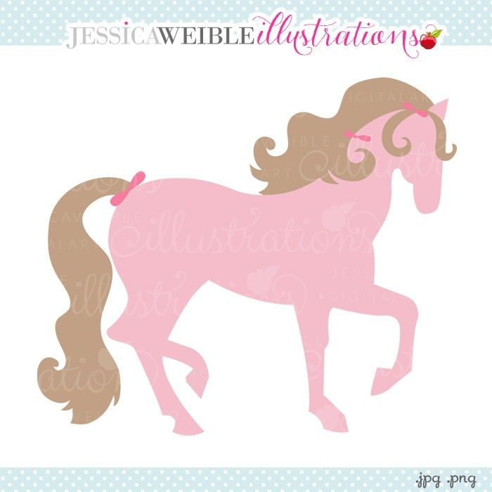 Pink pony clipart jw illustrations jwi create with clipart