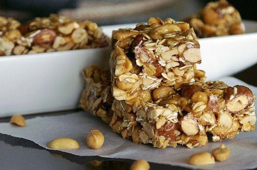 Homemade Nutty Oatmeal Bars | Desserts | Pinterest