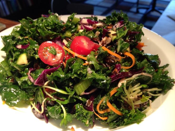 ... mushrooms and other veggies; oil and vinegar dressing. Raw vegan