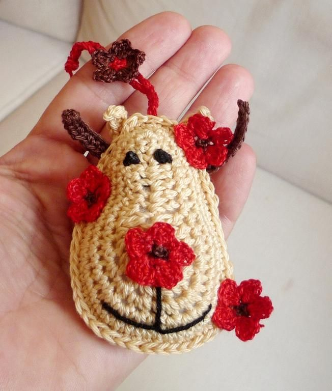 Crochet Christmas Ornaments : Crochet Christmas Reindeer Ornament Christmas crochet Pinterest