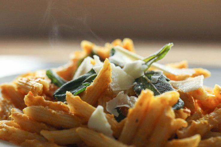 Creamy Pumpkin Pasta With Crispy Sage | Colder Days | Pinterest