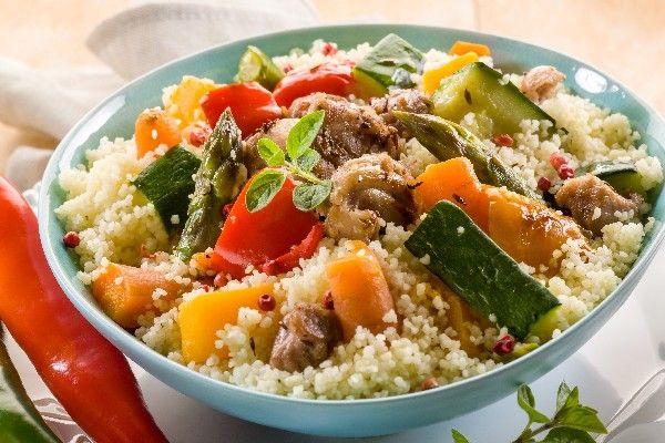 25-Minute Tunisian Vegetable Couscous #Recipe #Vegan #LowCalorie # ...
