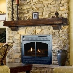 Espresso Distressed Fireplace Mantel For The Home Pinterest