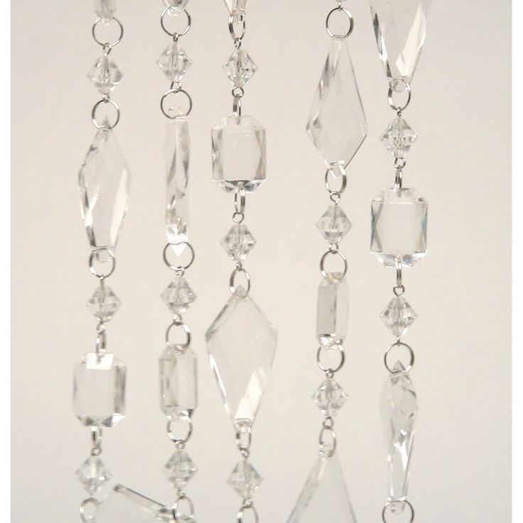 Beaded acrylic chandelier garland 262239 262541 hanging for Plastic chandeliers for parties