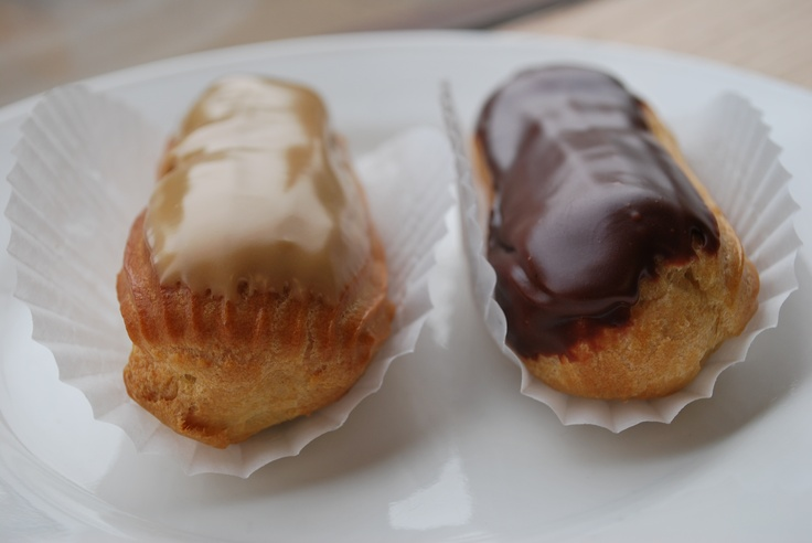 coffee & chocolate eclairs | Desserts - Recipes | Pinterest
