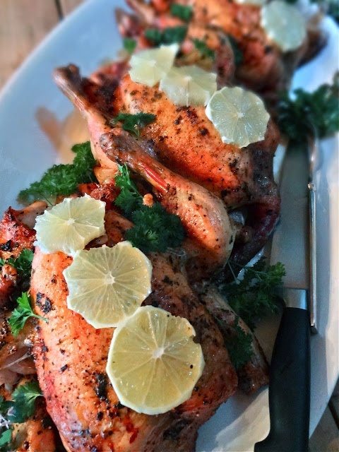 Cory's BBQ Roasted Lemon Chicken with Garlic & Herbs