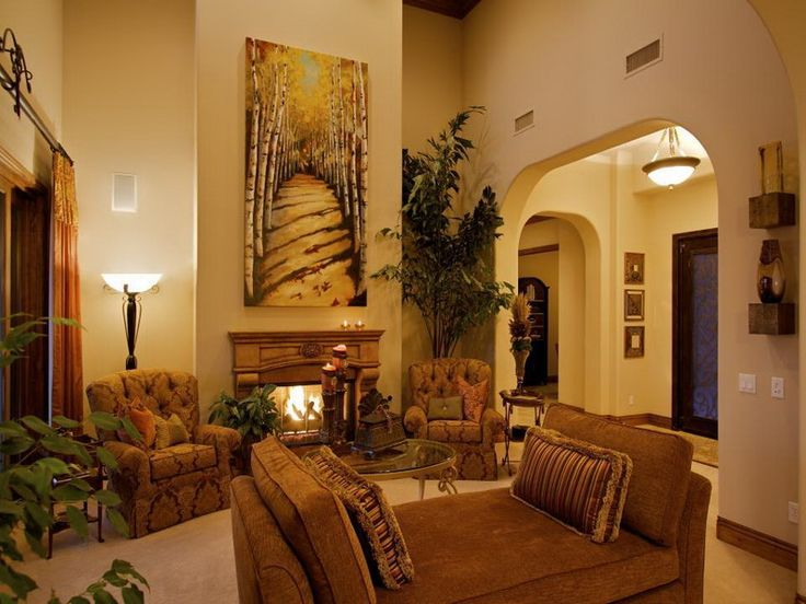Tuscan Style Living Room Tuscan Living Pinterest