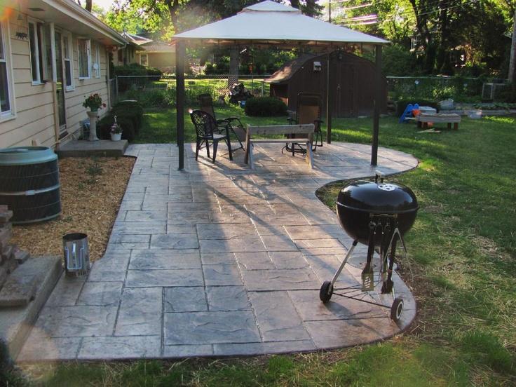 stamped concrete patio add pergola patio ideas pinterest