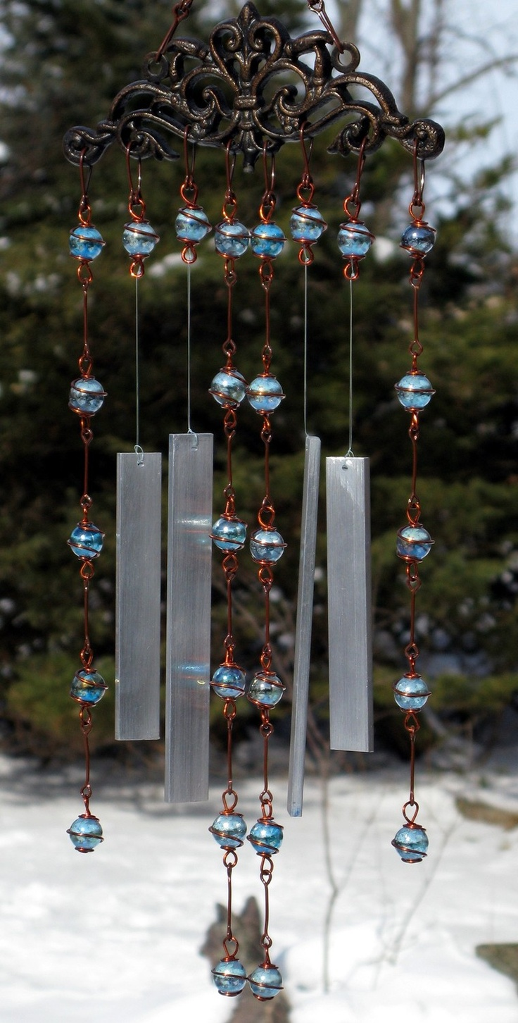 The gallery for wind chimes from waste material for Wind chimes from recycled materials