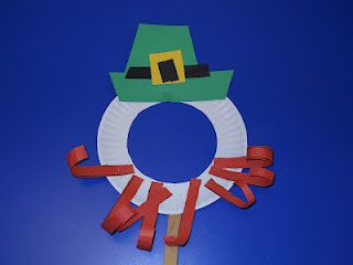 Leprechaun Paper Plate Masks -  Pinned by @PediaStaff – Please Visit ht.ly/63sNt for all our pediatric therapy pins