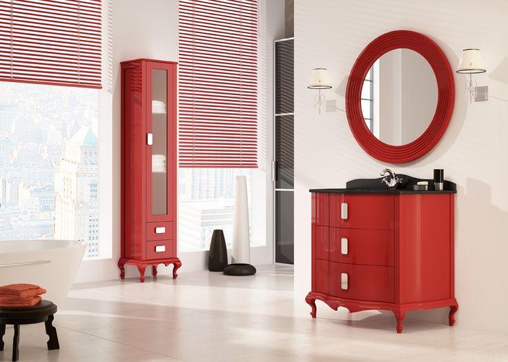 Muebles De Baño Rojos:Mueble de baño Venezia Rojo