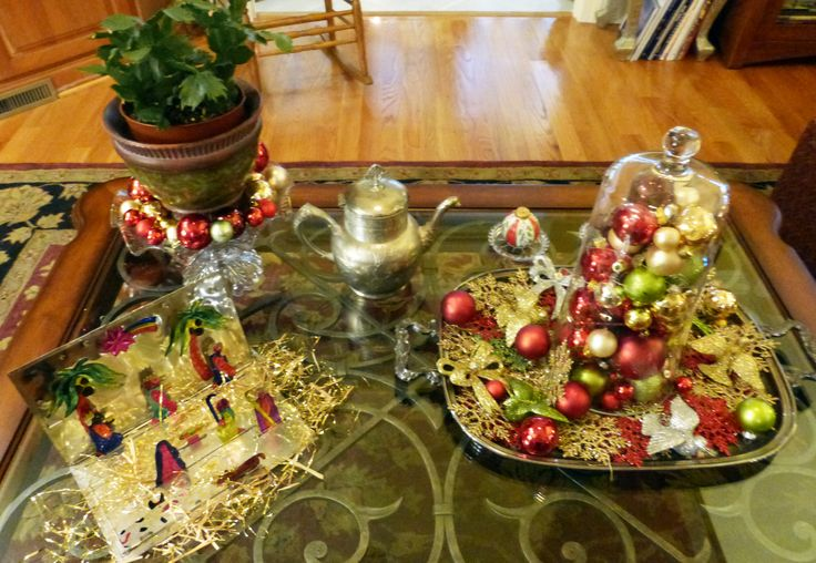 christmas coffee table decor my creations designs