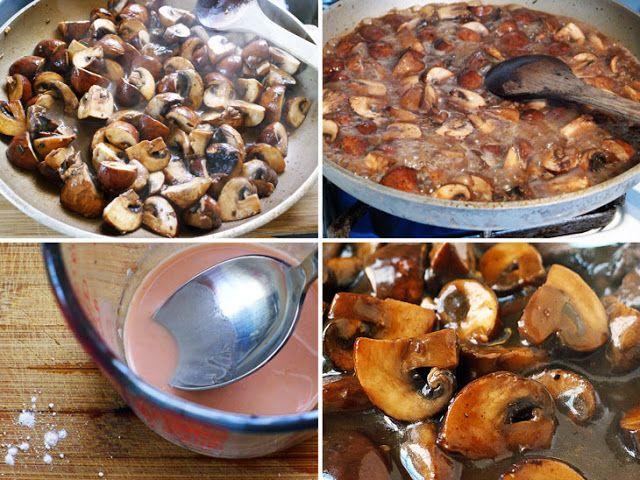Mushroom & Red Wine Sauce | yumm.. | Pinterest