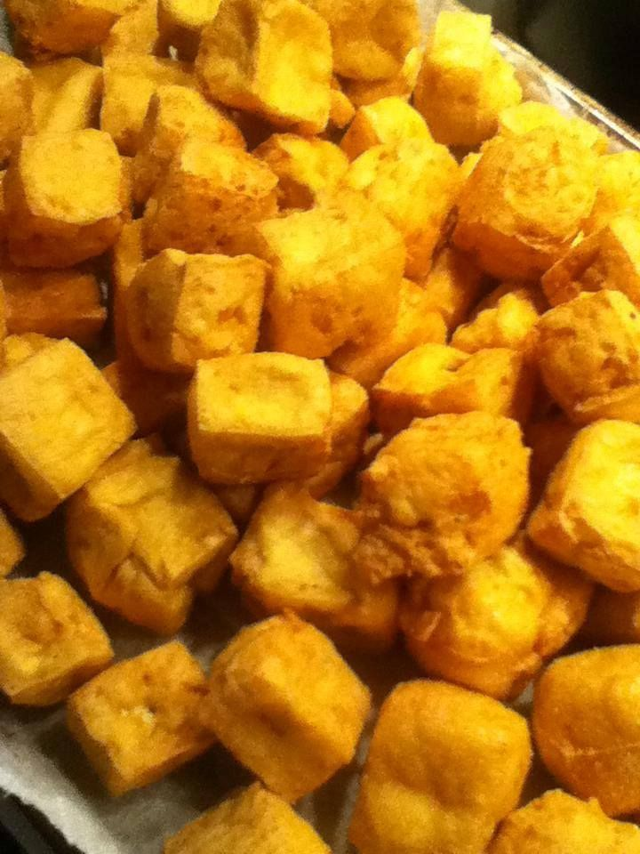 Deep Fried Tofu Squares | T's Dinner Recipes | Pinterest