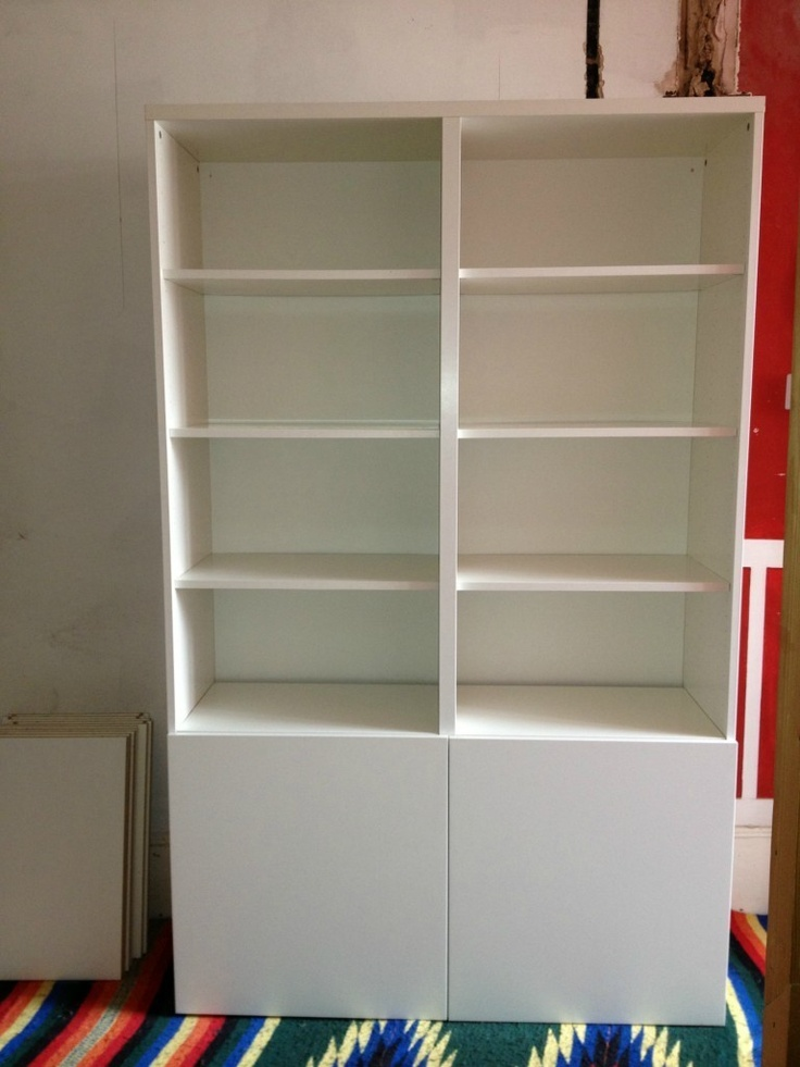 Ikea besta white shelving unit bookcase for Ikea shelving