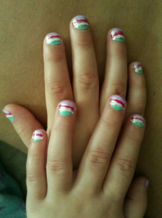 Baby Girls Nails Little Girl Nail Art Designs Pinterest