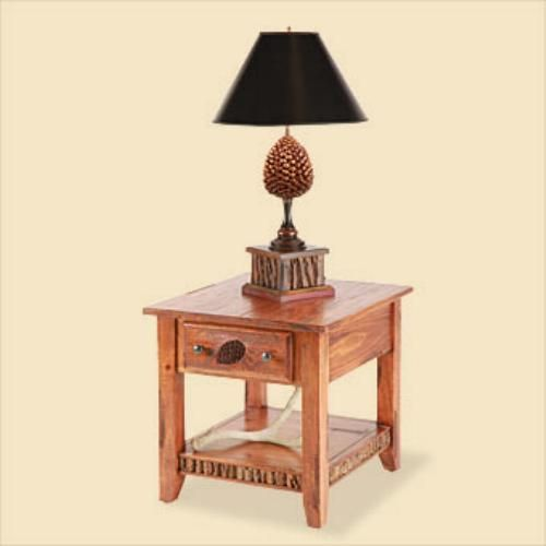 Lodge end Table from Carolina Country Furniture