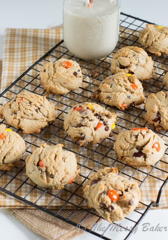 Soft Baked Triple Peanut Butter Cookies | www.themessybakerblog.com