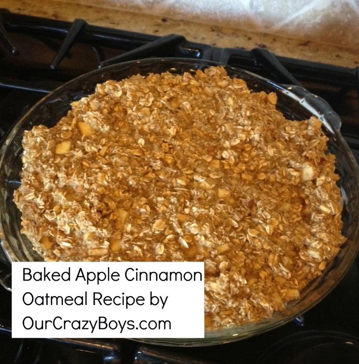 Gluten Free Baked Apple Cinnamon Oatmeal Recipe