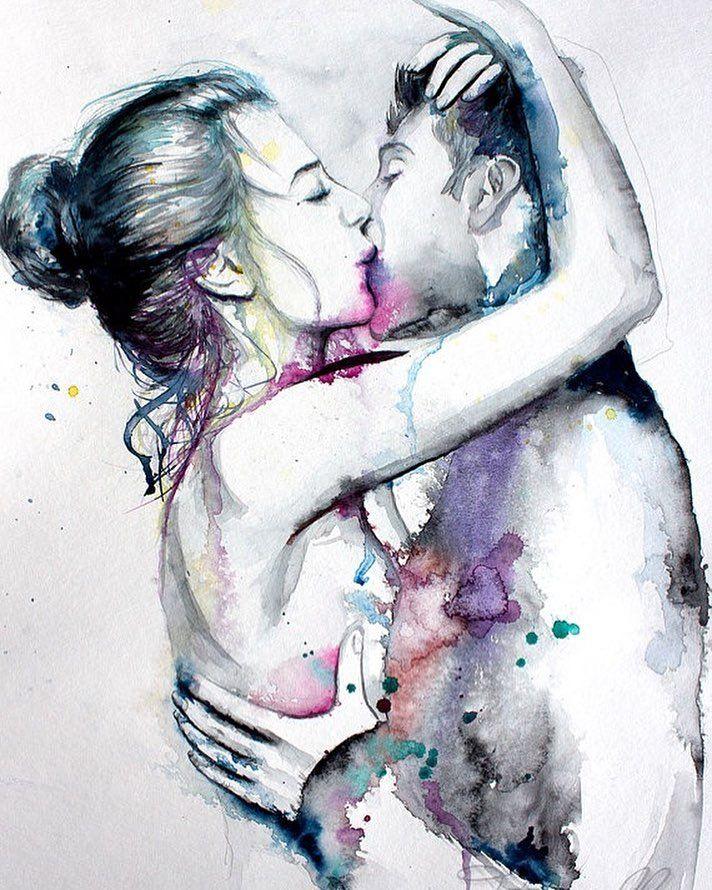 Мужчина и женщина любовь рисунок