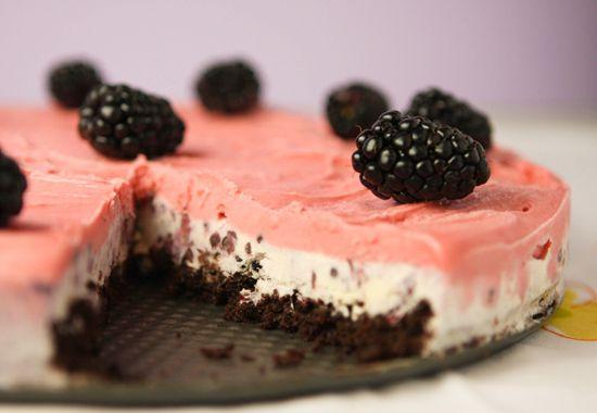 chocolate berry ice cream cake.