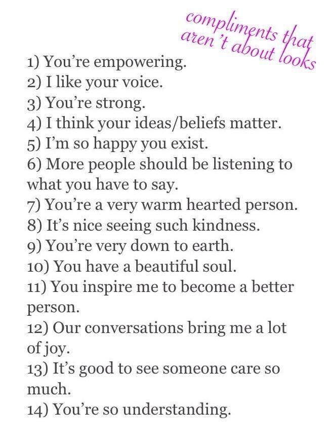 compliment girl