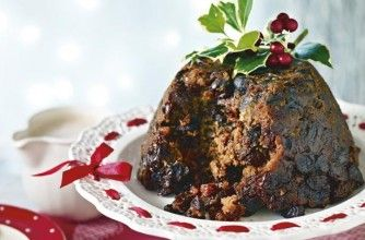 ... our luxury Christmas pudding with vine fruits soaked in mulled wine