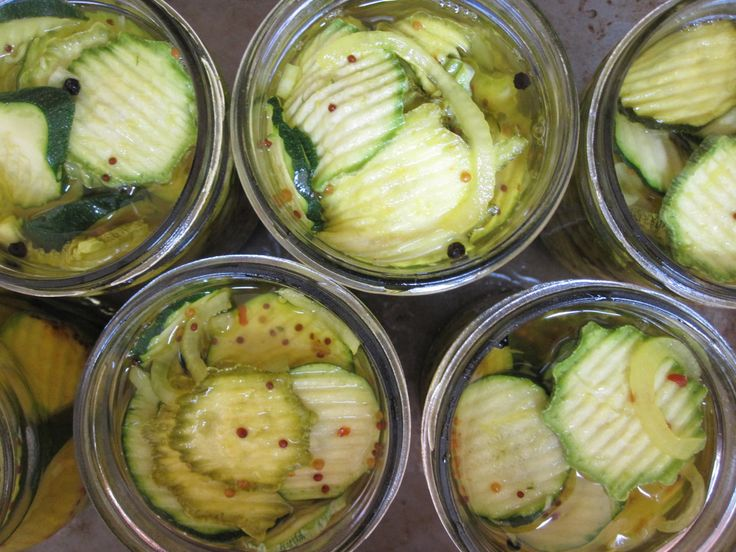 Sweet and Spicy Zucchini Pickles | Yums | Pinterest