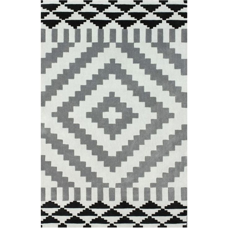 Spectrum Hand Tufted Modern Aztec Rug 1Wool Large Centre