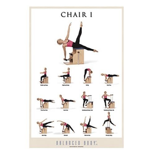 Balanced body chair i exercise poster healthy food for Chair workouts