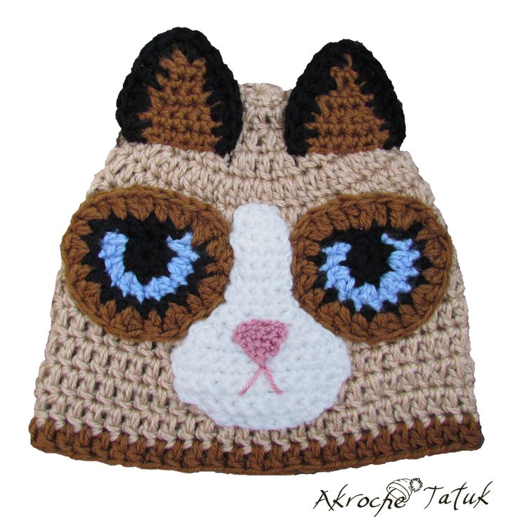 Crochet Cat Hat : grumpy cat crochet hat crochet pinterest