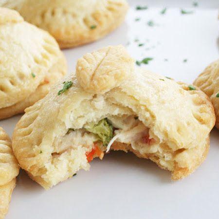 Savory Chicken Pocket Pies Recipe — Dishmaps