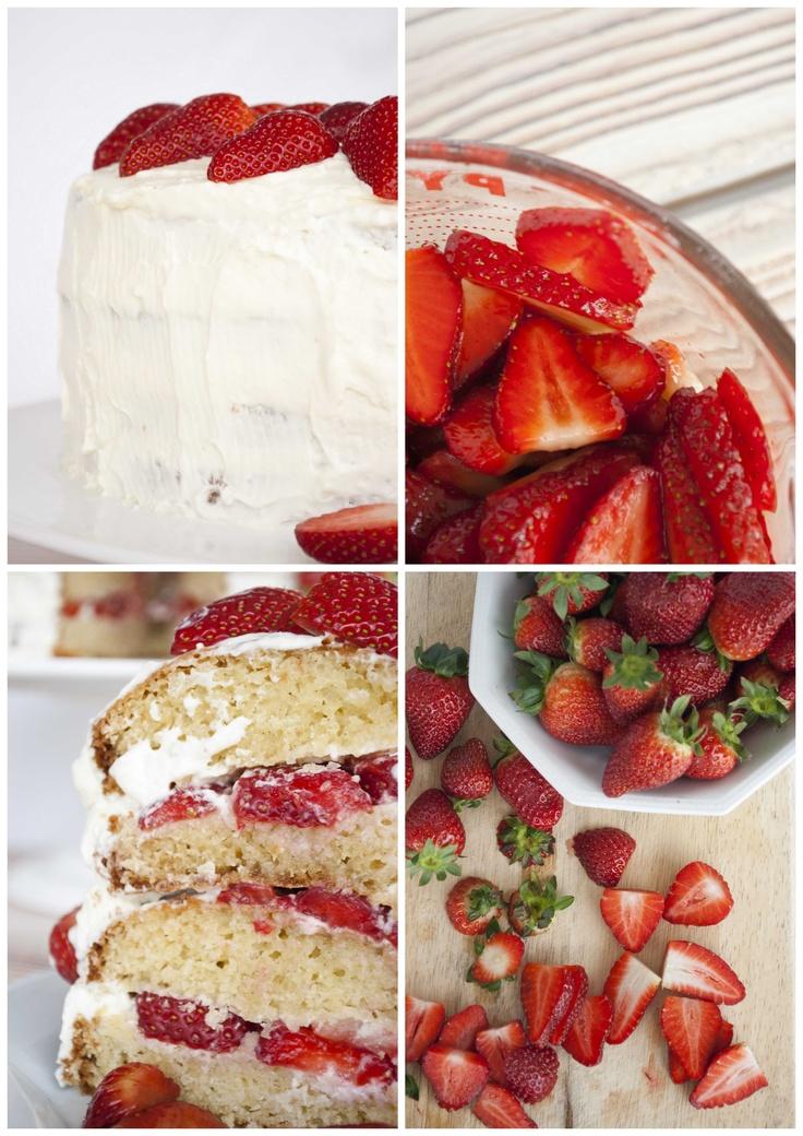 Strawberry Mascarpone Vanilla Bean Cake | Food | Pinterest