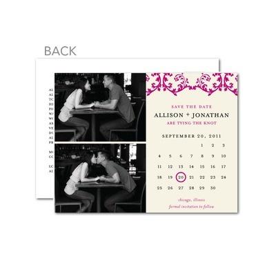 Calendar Save The Date Postcard | Calendar Template 2016