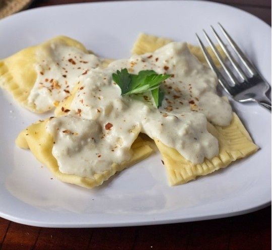 Chicken and Artichoke Ravioli with Roasted Garlic Cream Sauce, for the ...