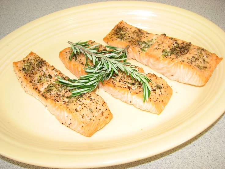 Broiled Salmon with Rosemary | Shel's Kitchen | Pinterest