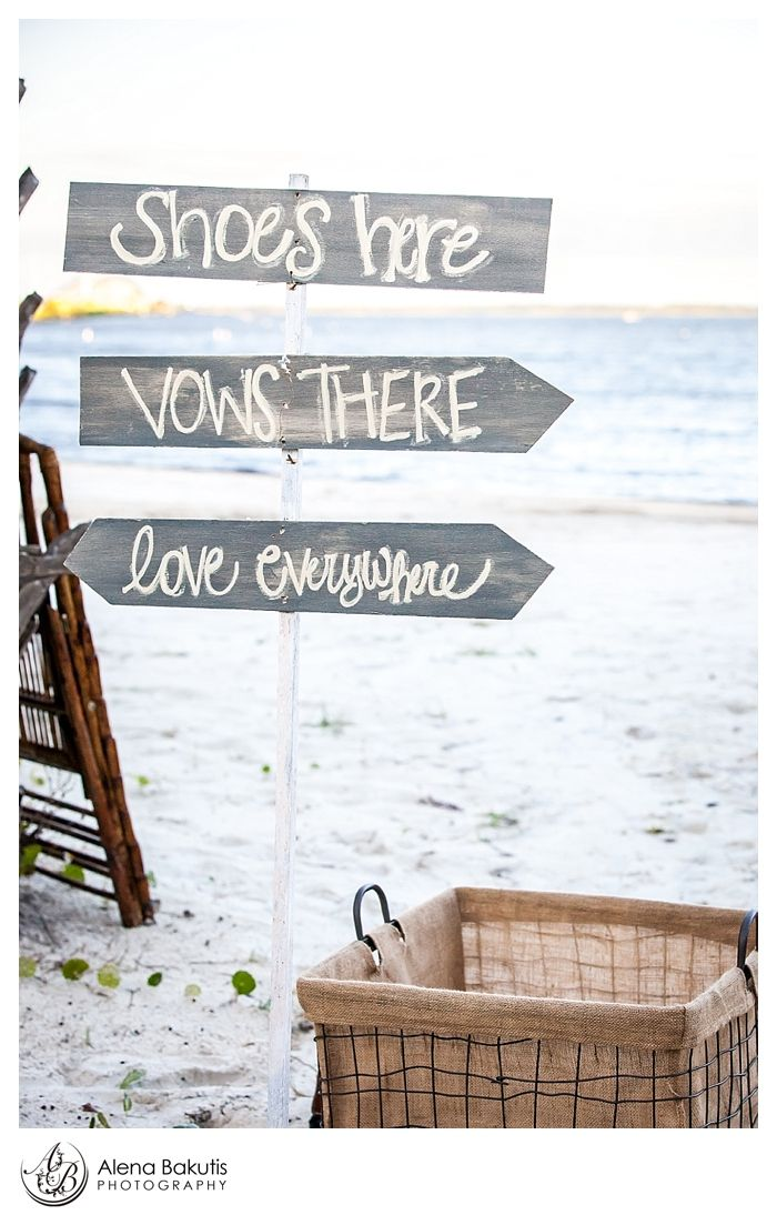 Perfect Signage For A Beach Wedding