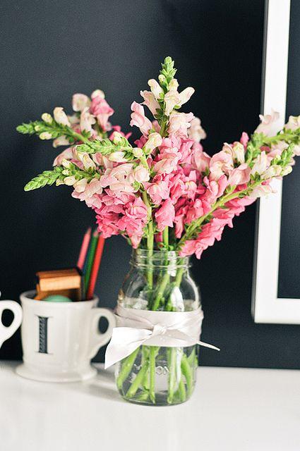 Mason jar flower arrangement 50th pinterest for How to arrange flowers in mason jar